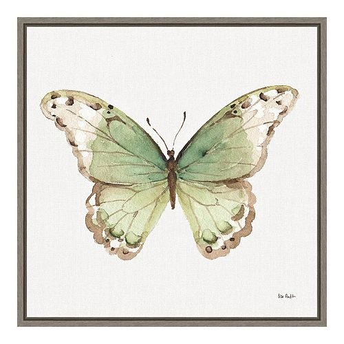 "Amanti Art ""Colorful Breeze XII (Butterfly)"" Framed Canvas"