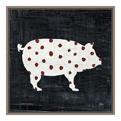 """Amanti Art """"Modern Americana Farm I"""" Framed Canvas"""