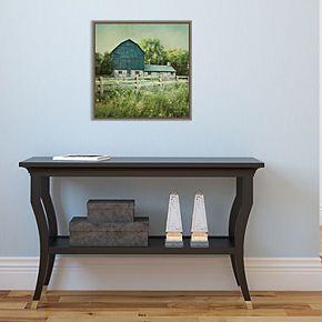 Amanti Art Blissful Country III (Barn) Framed Canvas Art