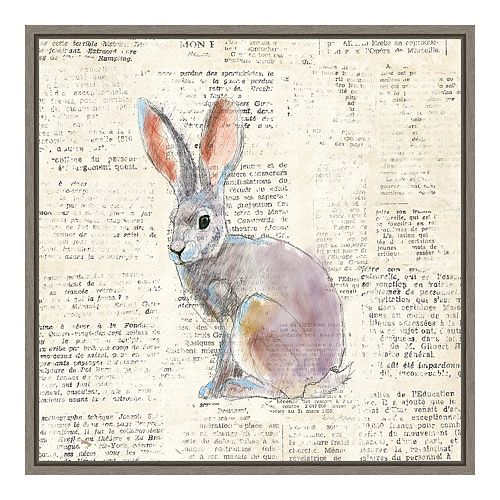 Amanti Art Into The Woods I No Border (Hare) Framed Canvas Art