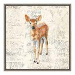 Amanti Art Into the Woods III no Border (Deer) Canvas Wall Art