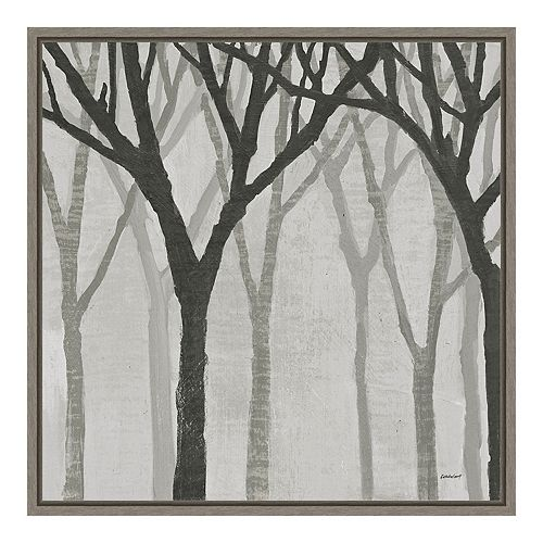 Amanti Art Spring Trees Greystone I Canvas Wall Art