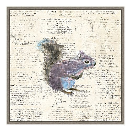 Amanti Art Into the Woods V (Squirrel) Canvas Art Framed