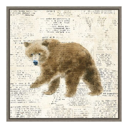 Amanti Art Into the Woods VI (Bear) Canvas Art Framed