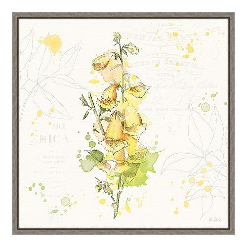 Amanti Art Floral Splash IV Framed Canvas Wall Art