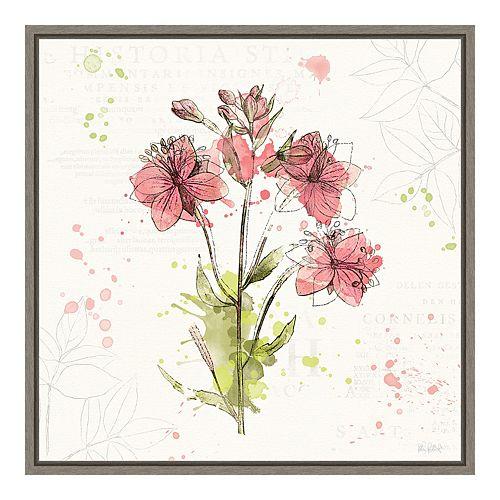Amanti Art Floral Splash V Canvas Art Framed