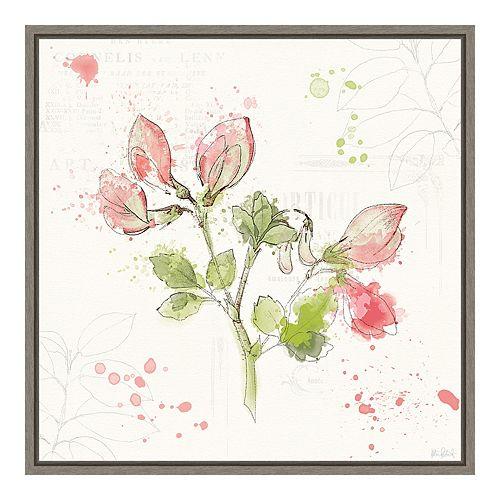 Amanti Art Floral Splash II Canvas Art Framed
