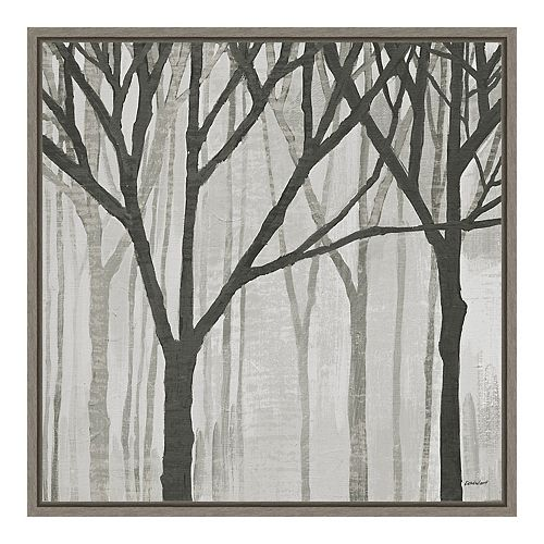 Amanti Art Spring Trees Greystone III Canvas Framed Art