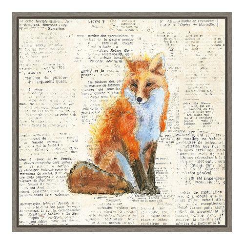 Amanti Art Into the Woods IV (Fox) Canvas Art Framed