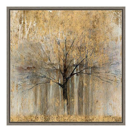 Amanti Art Open Arms Gold Crop Canvas Art Framed