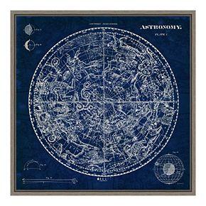 Amanti Art Celestial Blueprint Canvas Art Framed