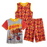 Boys 4-10 Jurassic World 3-Piece Pajama Set
