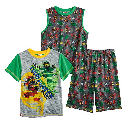 Boys 4-10 Lego Ninjago 3-Piece Pajama Set