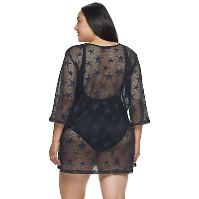 Plus Size Apt. 9® Lace-Up Cover-Up
