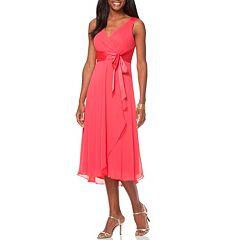 2b4da653892 Women s Chaps Surplice Midi Dress