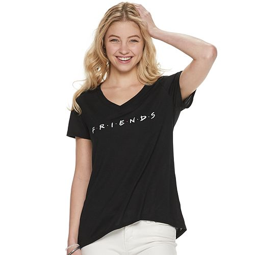 Juniors' Friends V-Neck Graphic Tee