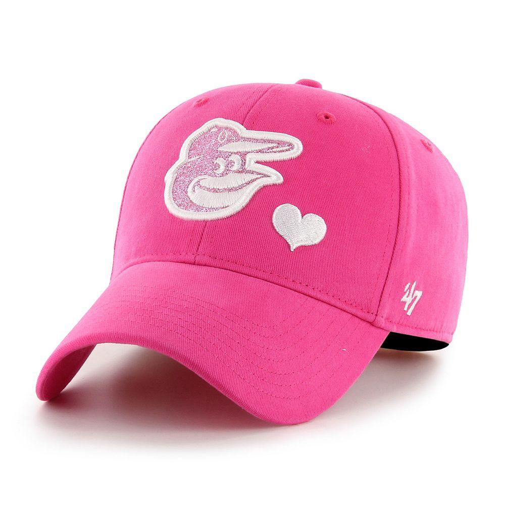 Girls '47 Brand Baltimore Orioles Sugar Sweet Adjustable Hat