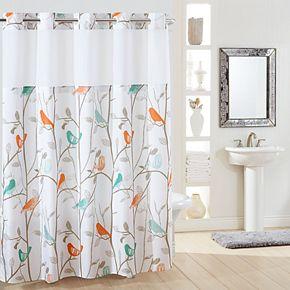Hookless Scandiary Plain Weave Shower Curtain & Liner