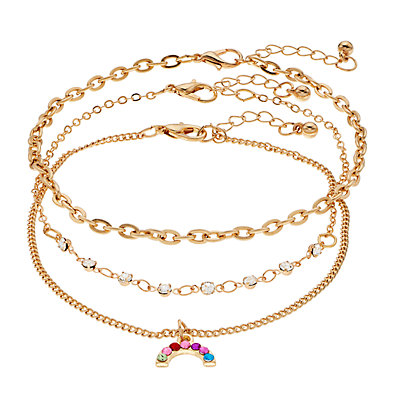 Mudd® Anklet With Rainbow 3 Pack