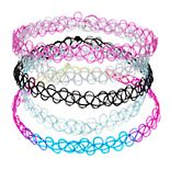 Mudd® Set of 5 Multicolor Tattoo Chokers