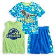 Boys 4-7 Jurassic World Tee, Tank & Shorts Set