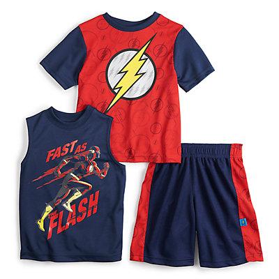 Boys 4-7 DC Comics The Flash Tee, Tank & Shorts Set