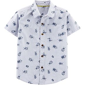 Boys 4-14 Carter's Bugs Striped Button Down Shirt