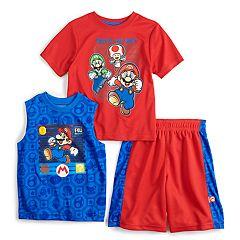 bf2f7218 Boys 4-7 Super Mario Bros. Tee, Tank & Shorts Set