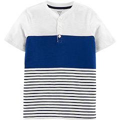 Boys 4-14 Carter's Striped Henley Top