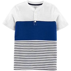 Boys 4-14 Carter's Striped Henley Top