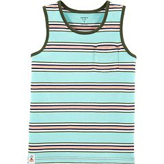 Boys 4-14 Carter's Striped Pocket Tank Top