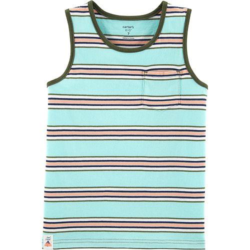 Boys 4-14 Carter's Striped Pocket Tank Top
