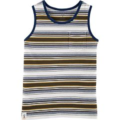 Boys 4-14 Carter's Striped Brown Pocket Tank Top