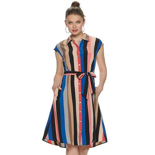 Women's Apt. 9 Button-Front Shirtdress