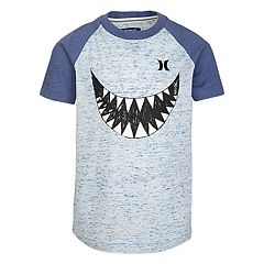 Boys 4-7 Hurley Shark Heathered Raglan Graphic Tee