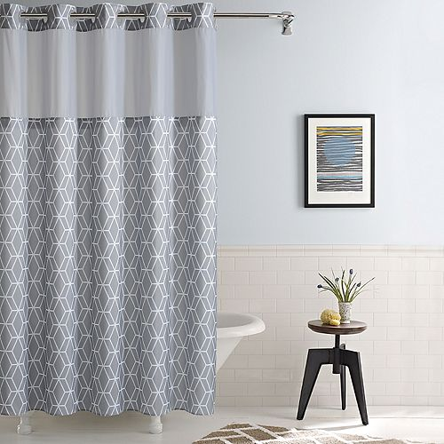 Hookless Prism Shower Curtain & Liner