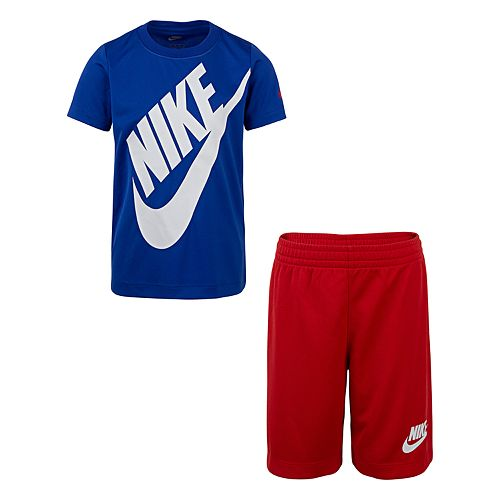 Boys 4-7 Nike Dri-FIT Futura Graphic Tee & Shorts Set