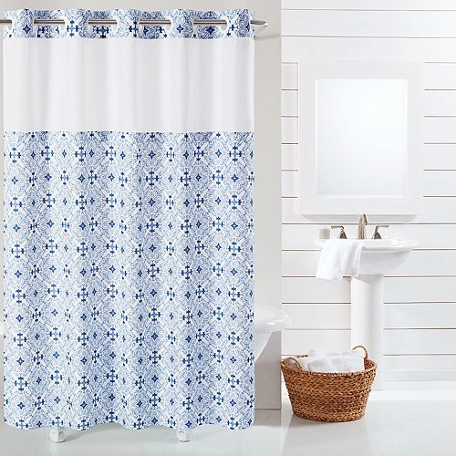 Hookless Vervain Shower Curtain & Liner