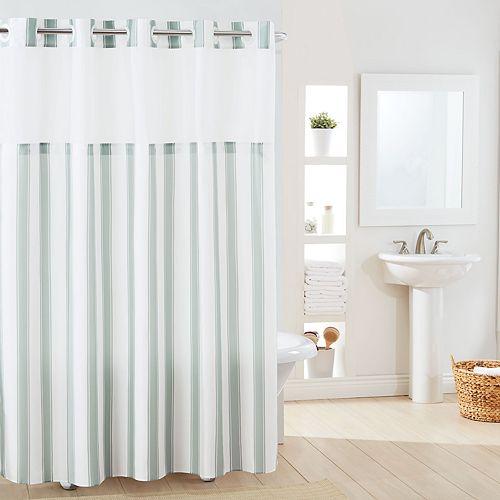 Hookless Stripe Shower Curtain & Liner