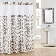 Hookless Branca Plain Weave Shower Curtain & Liner