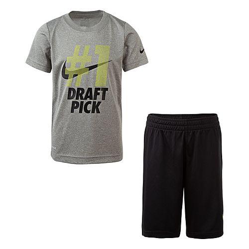 Boys 4-7 Nike #1 Draft Pick Graphic Tee & Shorts Set