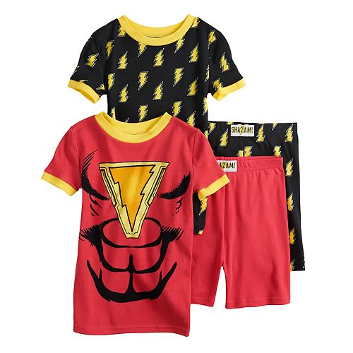 Boys 6-12 Shazam 4-Piece Pajama Set