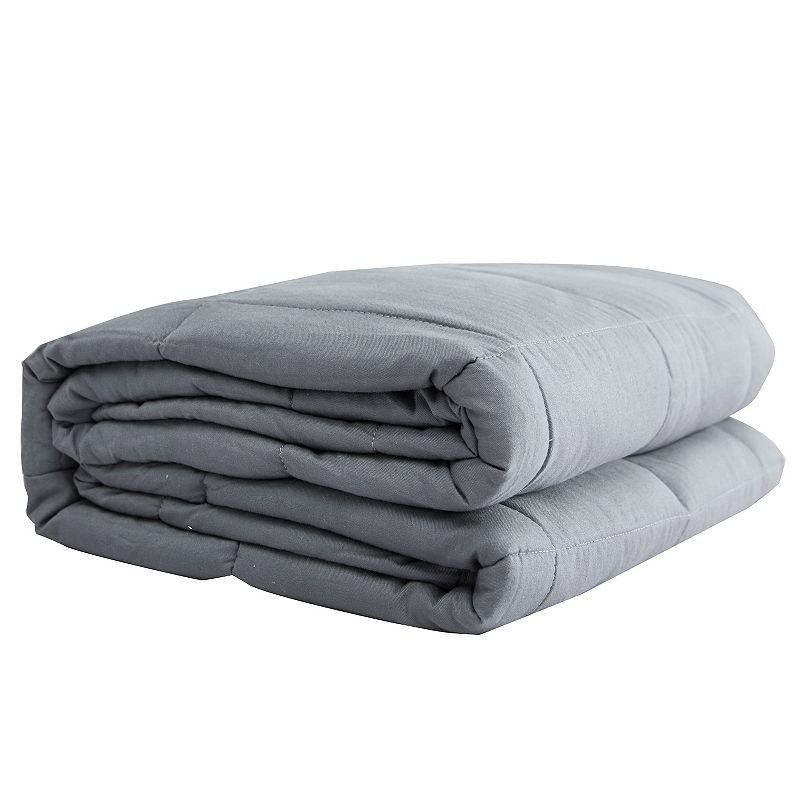 Cotton Weighted Blanket, Grey, 15 LBS