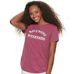 Juniors' 'Need More Weekends' Graphic Tee