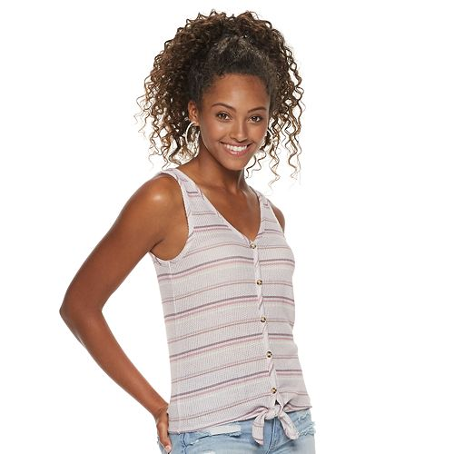 Juniors' Mudd® Button Front Tank