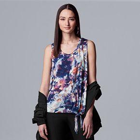 Petite Simply Vera Vera Wang Side-tie Print Tank