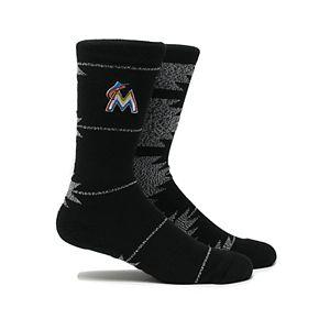 Miami Marlins Geo Crew Socks