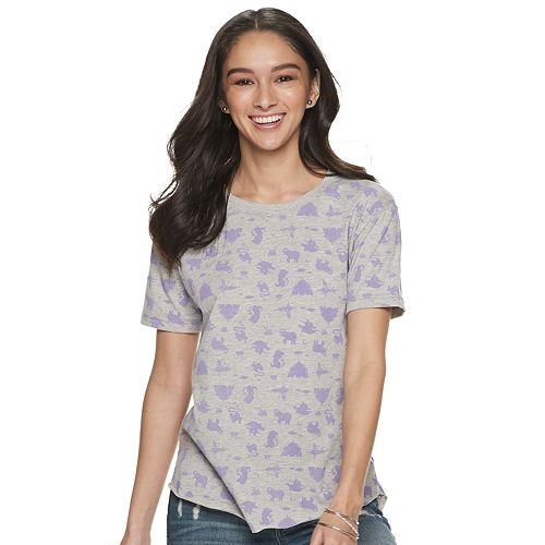 Juniors' Disney's Aladdin Pattern Tee