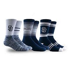 San Diego Padres 3-Pack Crew Socks