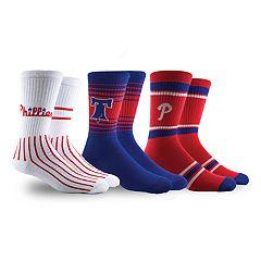 Philadelphia Phillies 3-Pack Crew Socks